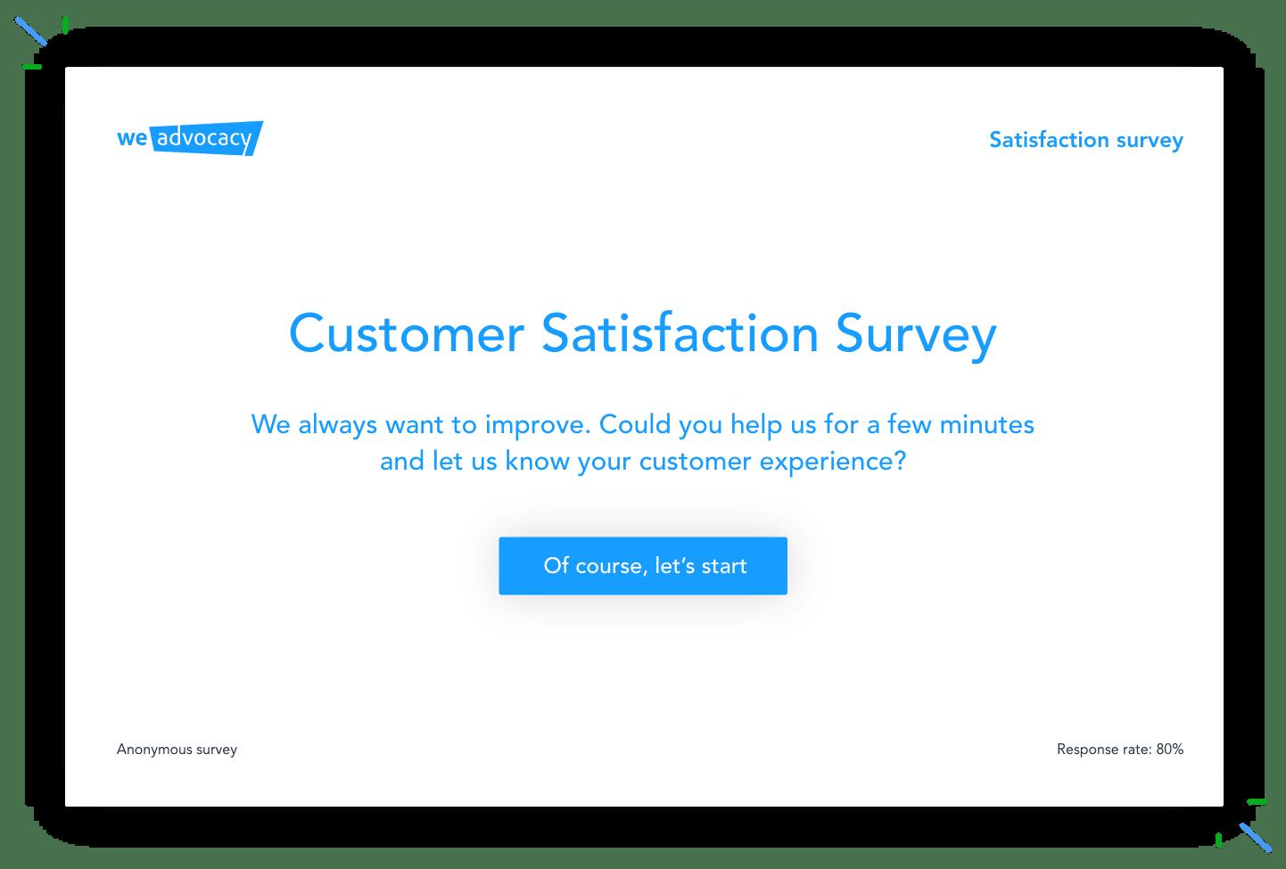 external communication surveys satisfaction